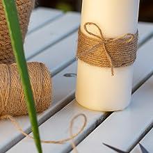 Jute lint koord koord koord knutselen tuinwerk verpakking bevestigen natuurlijk bruin