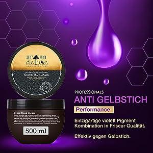 Anti Gelbstich Performance: Einzigartige violett Pigment Kombination in Friseur Qualität