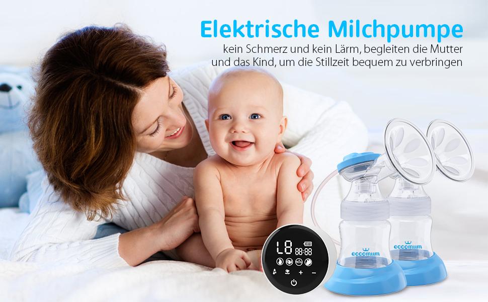 Anti-Rückfluss-Stillpumpe CR Doppelsauger Schmerzfrei Elektrische Milchpumpe