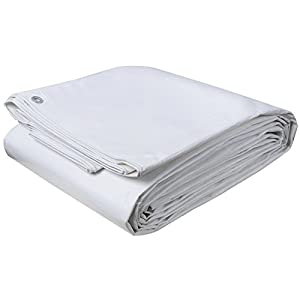 WOLTU GZ1177m8 B/âches de protection PE,couverture /étanche B/âches couverture de bateau,b/âche /étanche et ind/échirable,5x6m 280g//m/²,Blanc