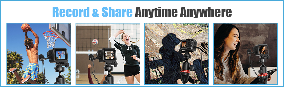 boya dji osmo action camera microphones