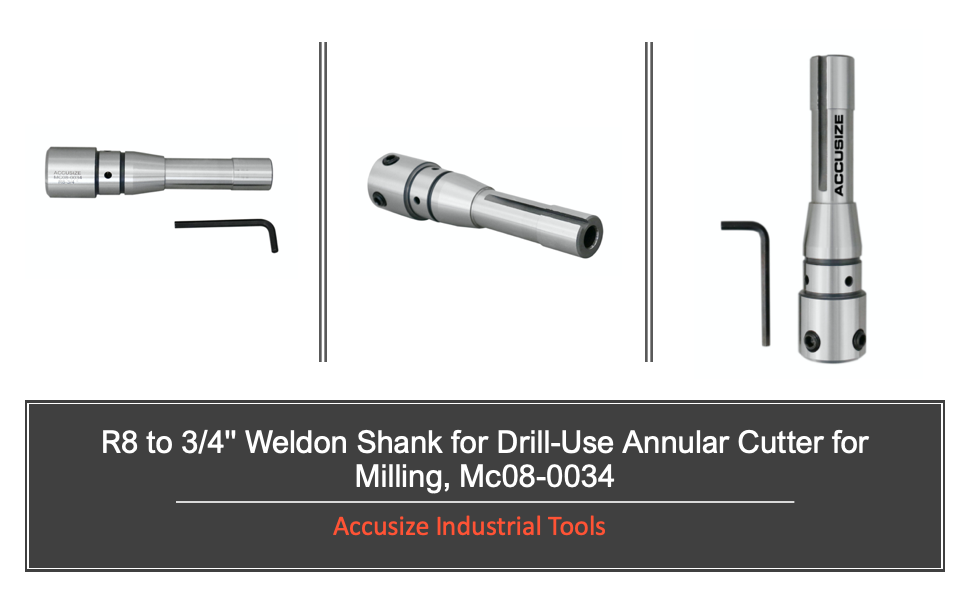 R8 to .75in Weldon Shank arbor for milling machine