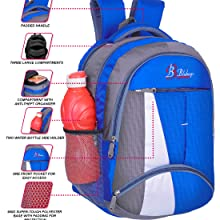 Three zipperred compartment, perfects for your kids, good quality, soft polyester fabric