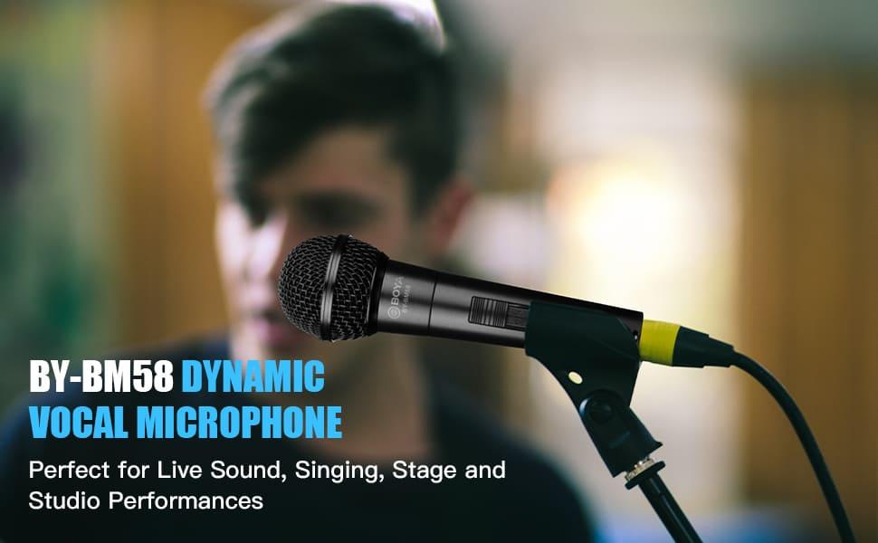 boya BY-BM58 cardioid dynamic vocal handheld microphone
