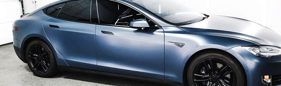 Satin Matte Metallic Blue 5ft x 26ft Cast Vinyl New Bubble-Free Car Wrap Vehicle