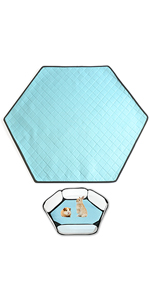 Absorbent mat for this playpen