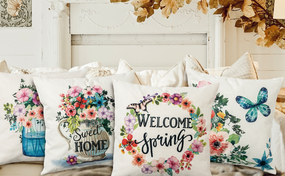 spring pillow covers 18x18