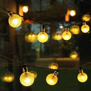 solar lights for Christmas