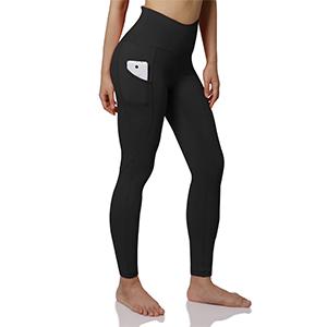 ODODOS Womens High Waist Yoga Legggings with Side Pockets