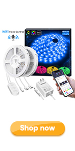 32.8ft alexa wifi led strip light works with alexa google home for indoor lighting decoration RGB