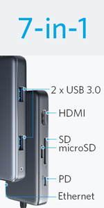 PowerExpand+ 7-in-1 USB-C PD イーサネット ハブ