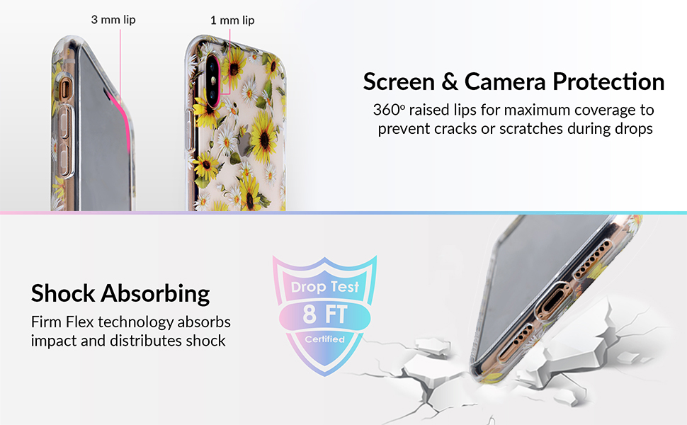 iPhone x case sunflower