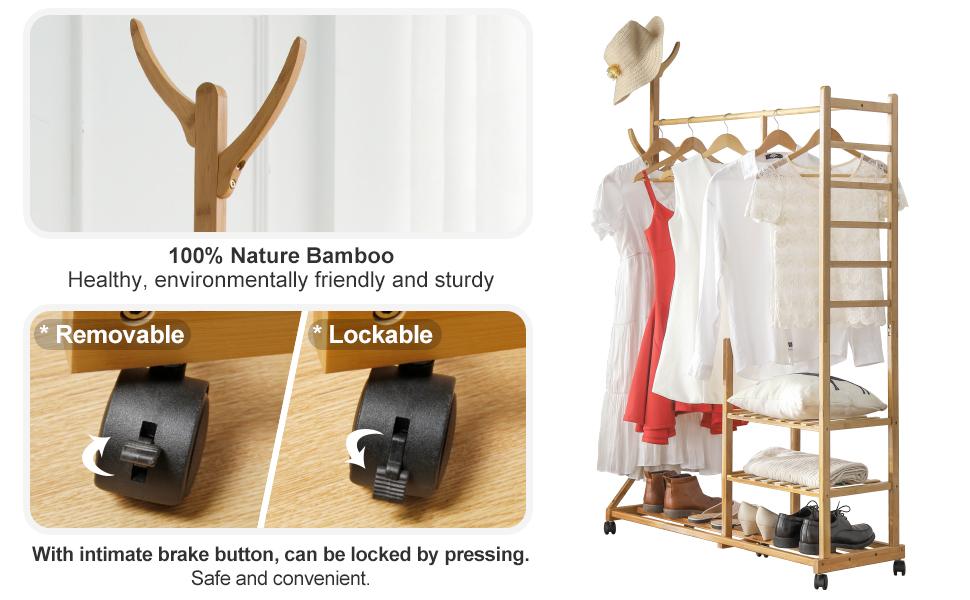 Universal wheel+garment hooks