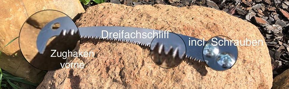 Ersatz-Sägeblatt zu FenWi Astsäge//Baumsäge mit Zughaken vorne