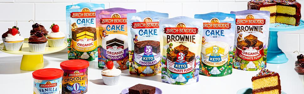 Birch Benders Organic keto cake brownie mix healthy desserts gluten free grain free
