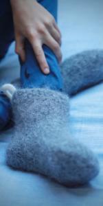 warm and cozy wool sleeping socks pure sheep wool handmade woolen Icelandic cold feet