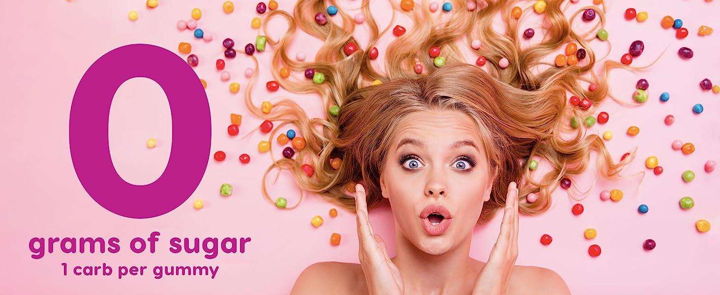Keto sugar-free low-carb sugarless low-calorie paleo diet stevia gummy gummies zero-calorie daily