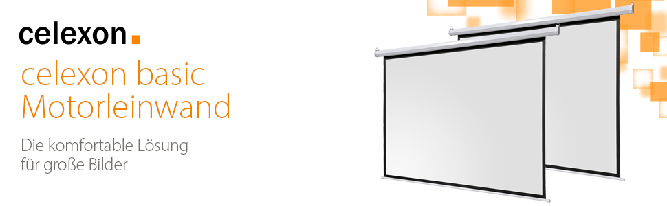 celexon celexon ivolum deluxx deckeneinbau stativ-projektor-Leinwand Beamer video-schirm elektro
