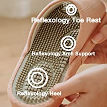Massage Footbed with Three-point Foot Arch Mechanics