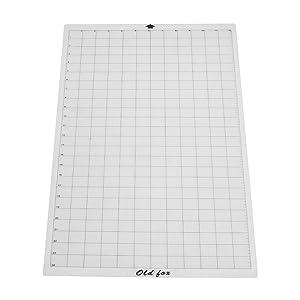 Aibecy OLD FOX - Alfombrilla de corte transparente con rejilla de medición para máquina de plóter Silhouette Cameo Cricut: Amazon.es: Oficina y papelería