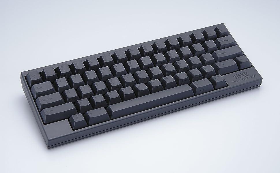 Happy Hacking Keyboard Professional2, Teclado Mecánico Portatil 60%, Compacto, USB, Teclas Impresas