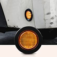 """4pc Amber 2.5"""" 13-LED Clearance Side Markerfront of light."""