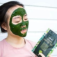 Matcha facemask