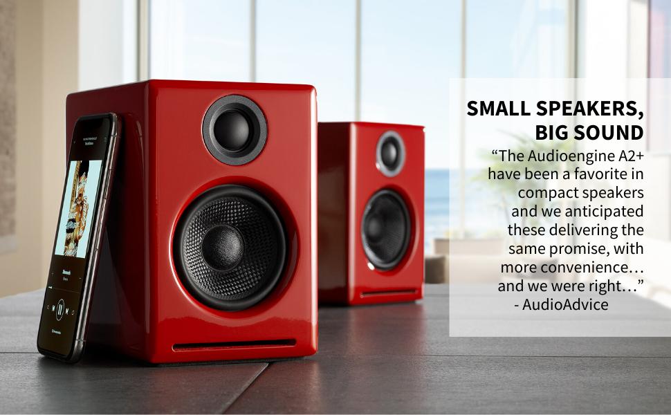 Audioengine a2+ wireless, A2 speakers, audioengine computer speakers, audioengine desktop audio, a2+