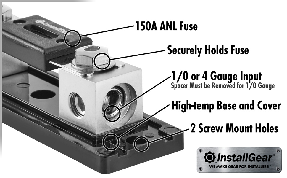 [SCHEMATICS_43NM]  Amazon.com: InstallGear 0/2/4 Gauge AWG in-Line ANL Fuse Holder with 150  Amp Fuse | 150 Amp Fuse Holder Box |  | Amazon.com