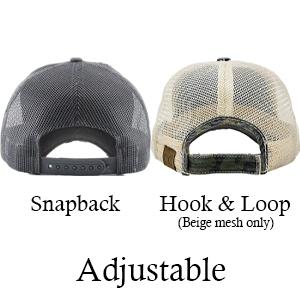 adjustable snapback hook and loop velcro closure