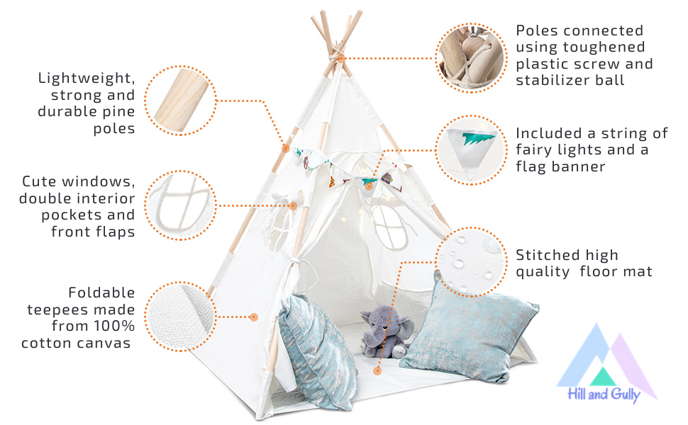 play tents for kids indoor teepee for children  indoor tent teepee tent for boys kids fort