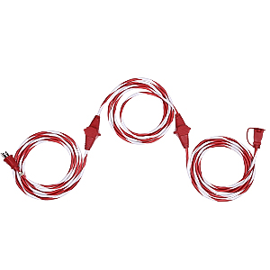 Dewenwils 25 FT Candy Cane Outdoor Extension Cord with Multiple Spaced Outlets Plugs UL Listed 16//3 SJTW Power Cord for Christmas Tree Lights and Holiday Decorations