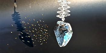 Heart Crystal Suncatcher Pendants Love Crystal Prisms Hanging Ornament Rainbow Maker for Windows