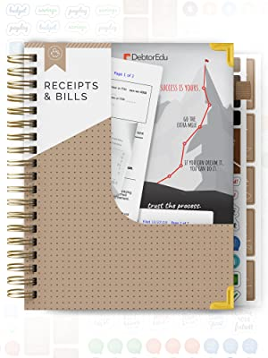 budget planner pocket for receipts and bills