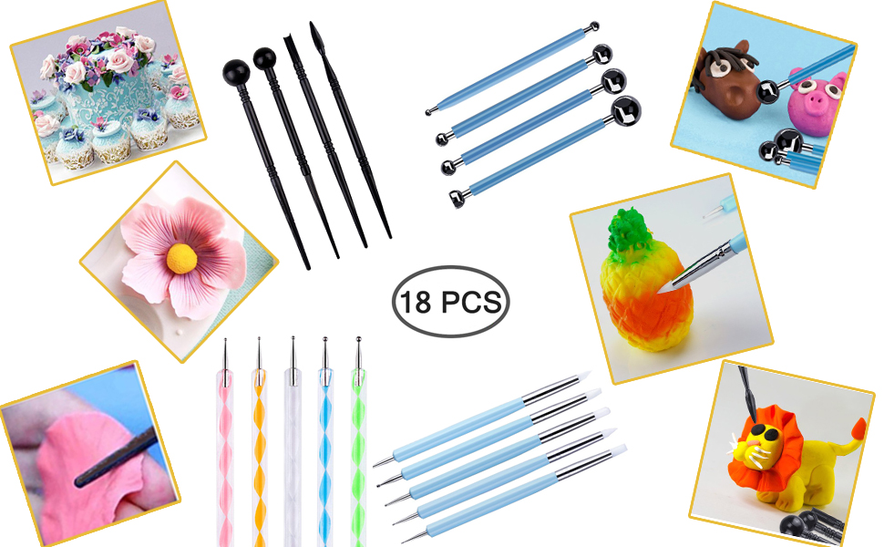 Polymer Modeling Clay Sculpting Tools