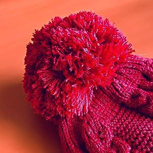 pom beanie warm winter women hats pompom beret muffler scarf neck warmer rofozzi purple relic