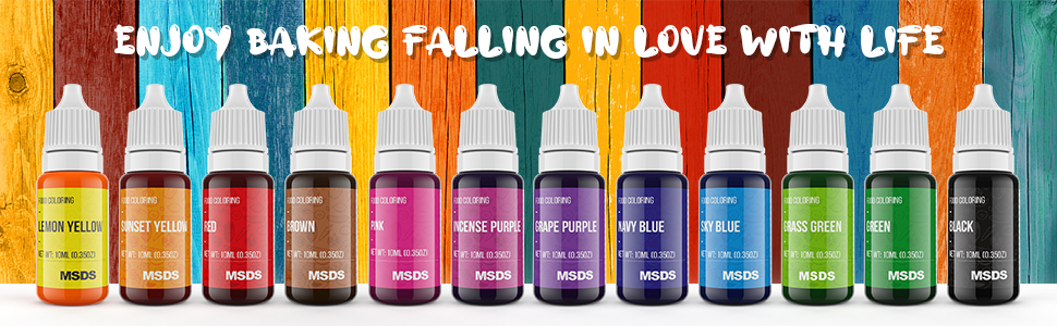 food coloring for cake, Food Coloring Set, Food Coloring Liquid, Vibrant Colors Edible Food Dye