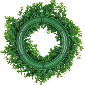 artificial green wreath with rubber ring