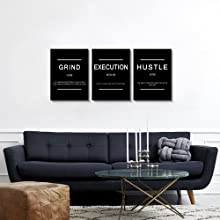 grind print letters wall art quotes wall decor office decoration artwork poster and print