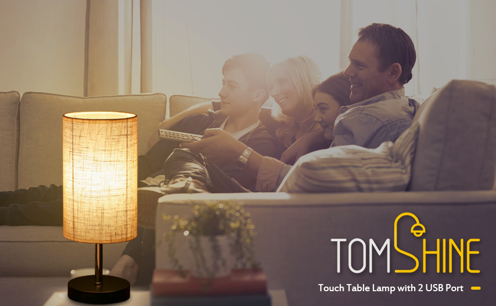 bedside table lamp touch control