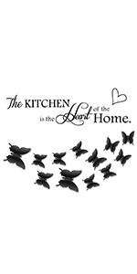 kitchen wall stickers butterfly wall decals
