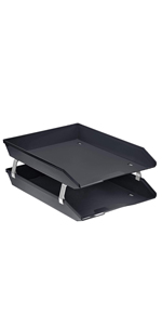 acrimet facility letter tray 2 tier front load black color