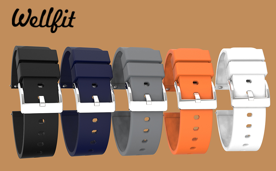 Quick Release Silicone Watch Bands