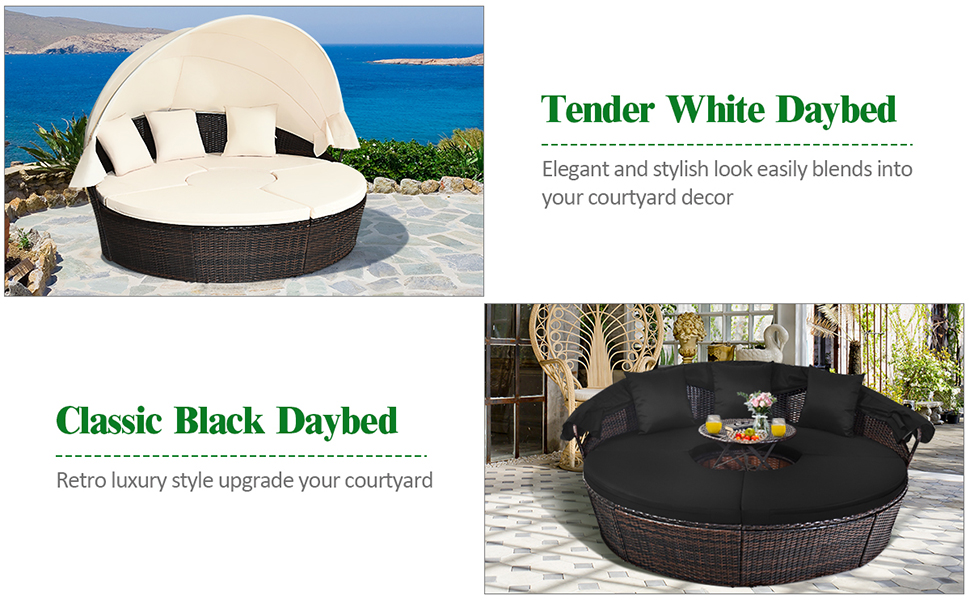 patio round daybed