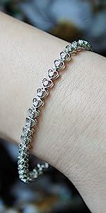 bracelet heart diamond natural affordable