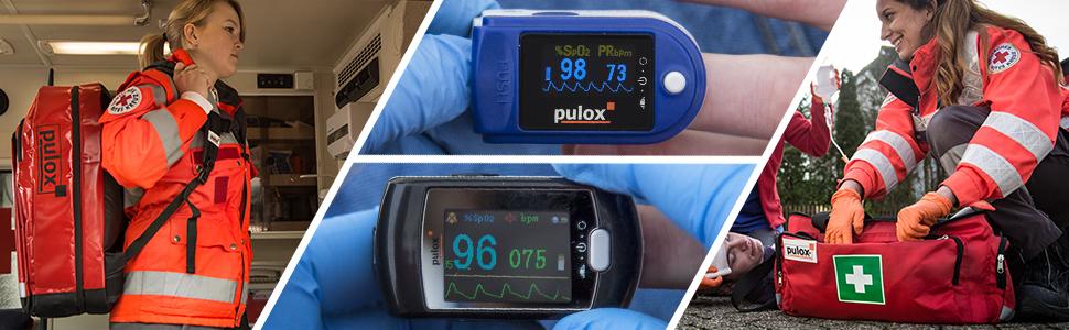 PULOX PO-200A mit Alarmfunktion und Pulston