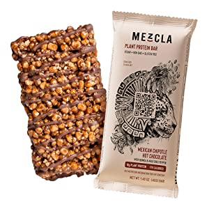 mexican chipotle hot chocolate mezcla vegan protein bar