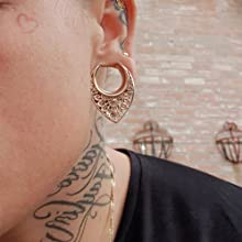 LY6025 Tunnels Plugs Hangers for Stretched Ears