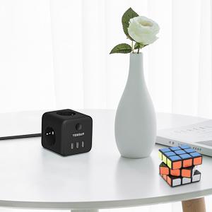 Powercube stekkerdozen, stekkerdozen, USB-stekker, dubbele stekker