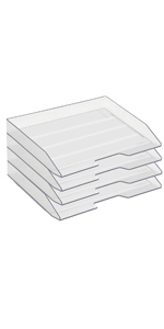 Acrimet Stackable Letter Tray Side Load Clear Crystal